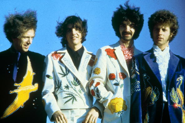 UNITED STATES - FEBRUARY 07: Photo of FLYING BURRITO BROS; Sneaky Pete Kleinow, Gram Parsons, Chris Ethridge, Chris Hillman
