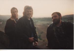 John York e Skip Battin con Beppe D'Angelo