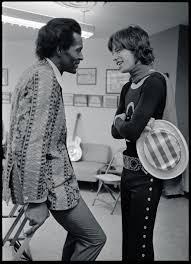 Chuck Berry con Mick Jagger